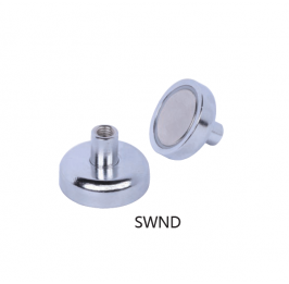 Neodymium Pot Magnets with Inner Thread SWND