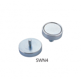 Neodymium Pot Magnets  with Outer Thread SWN4