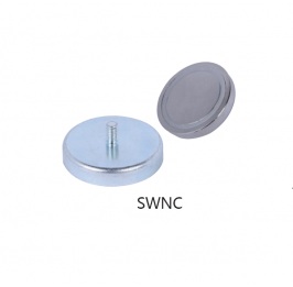 Neodymium Pot Magnets with Outer Thread SWNC