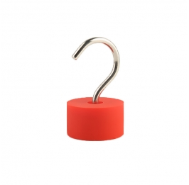 Neodymium Rubber Pot Magnet with Hook